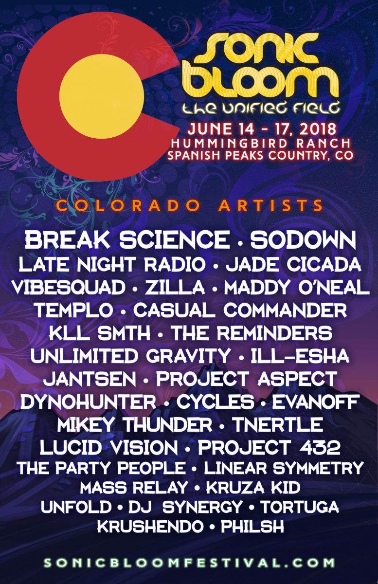Colorado Artists at Sonic Bloom 2018