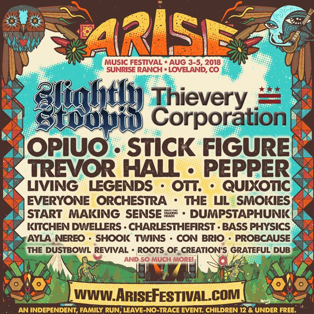 ARISE Music Festival 2018 - Full Lineup